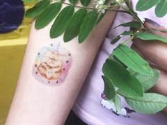 Кот единорог | Татуировка временная